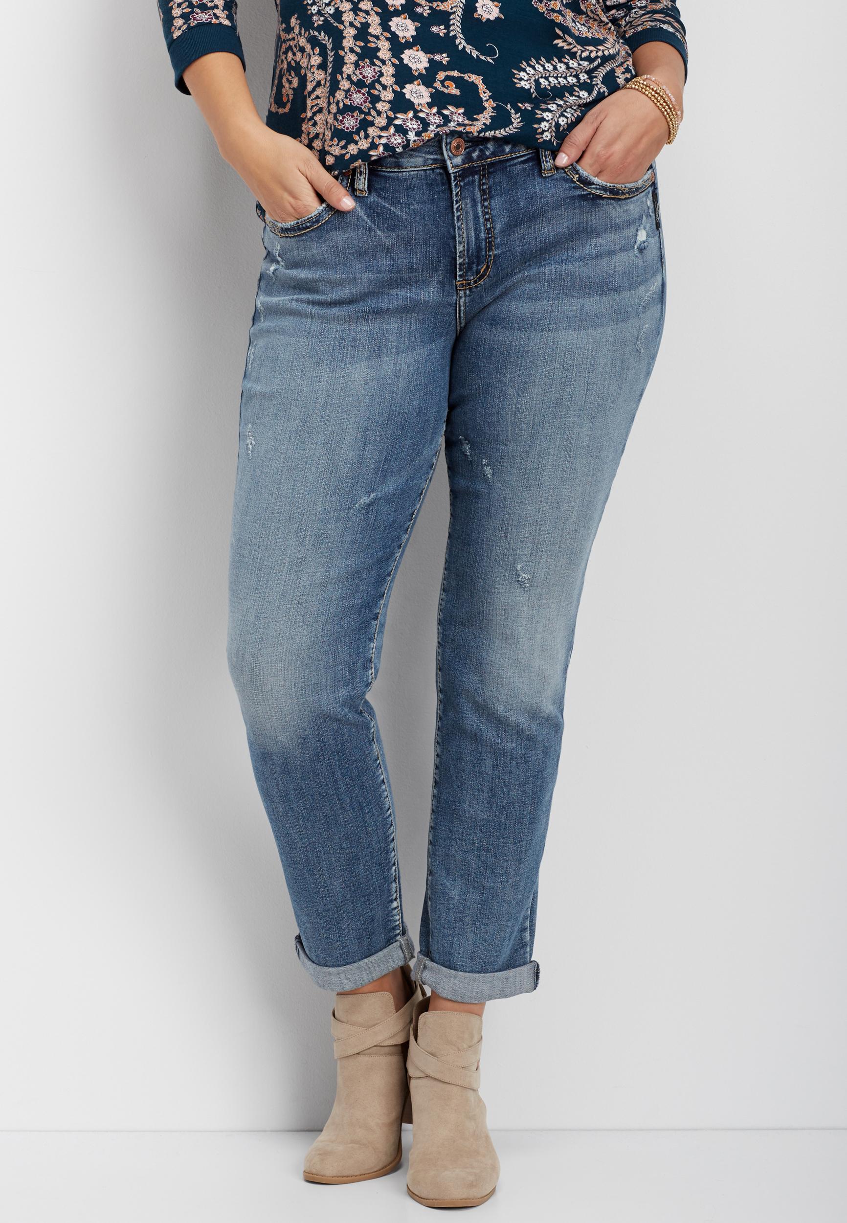 9e582d4c plus size Silver Jeans Co.® Sam medium wash boyfriend jean | maurices