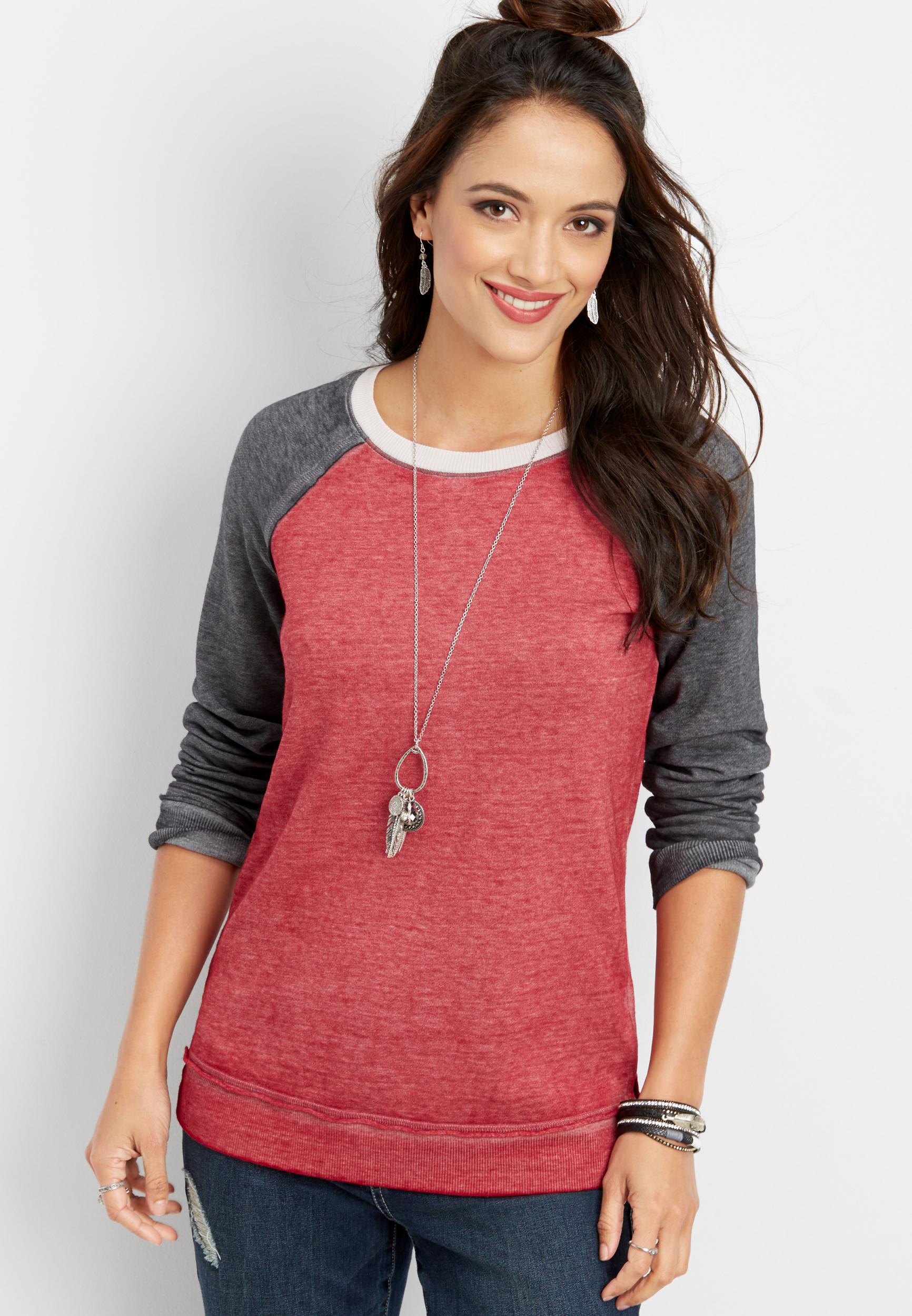 long sleeve baseball pullover