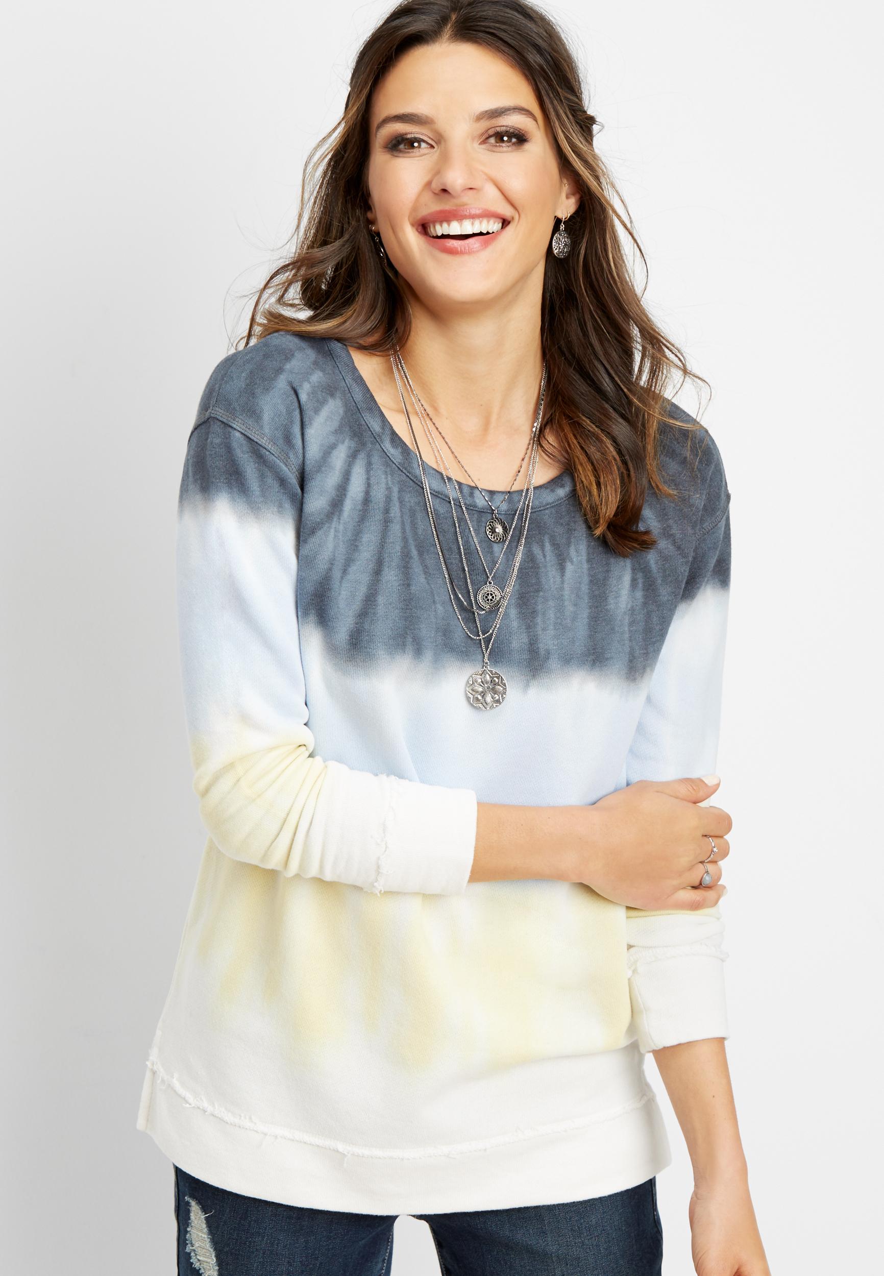 tie dye basic pullover