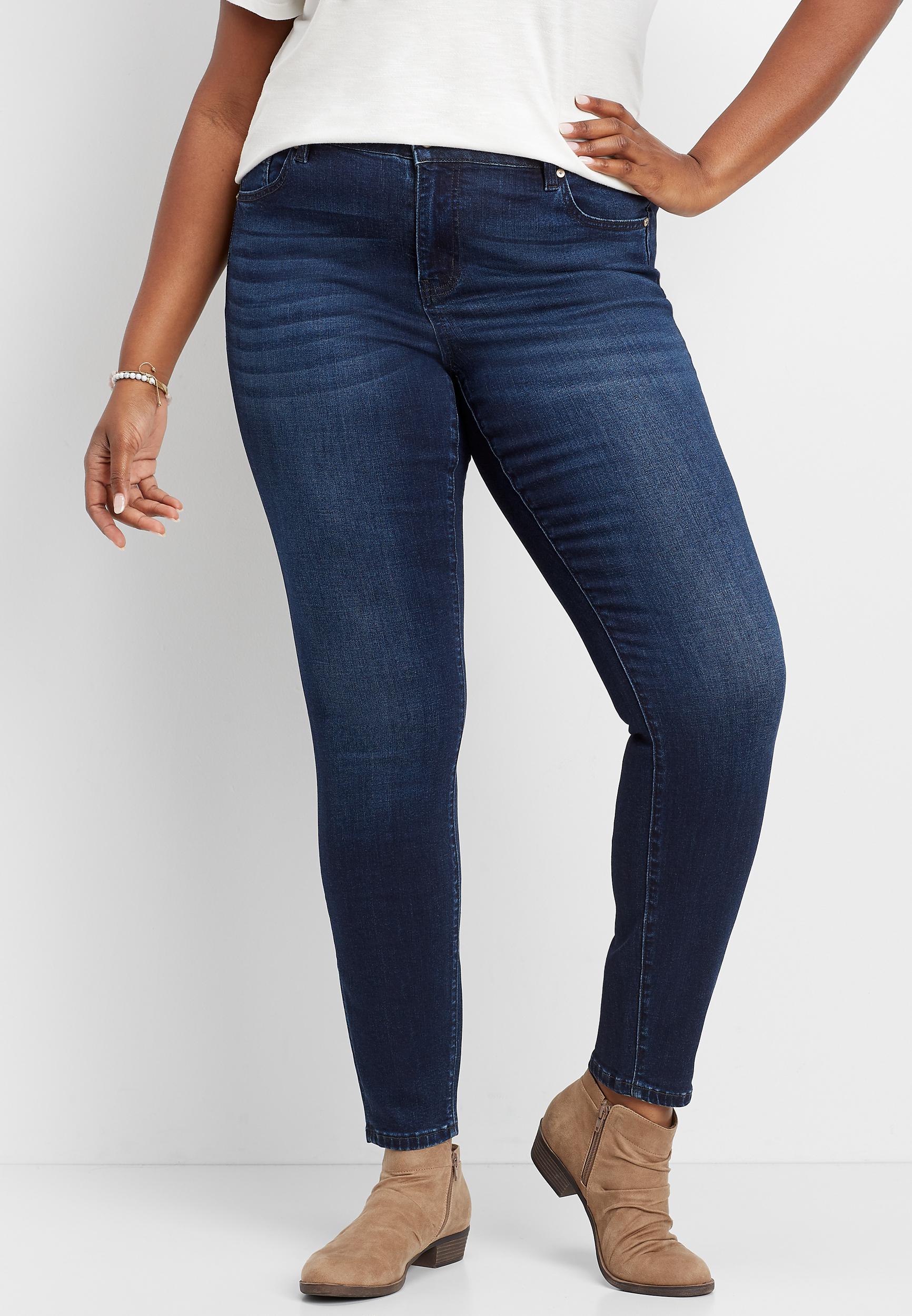 Plus Size Kancan Dark Wash Stretch Skinny Jean Maurices