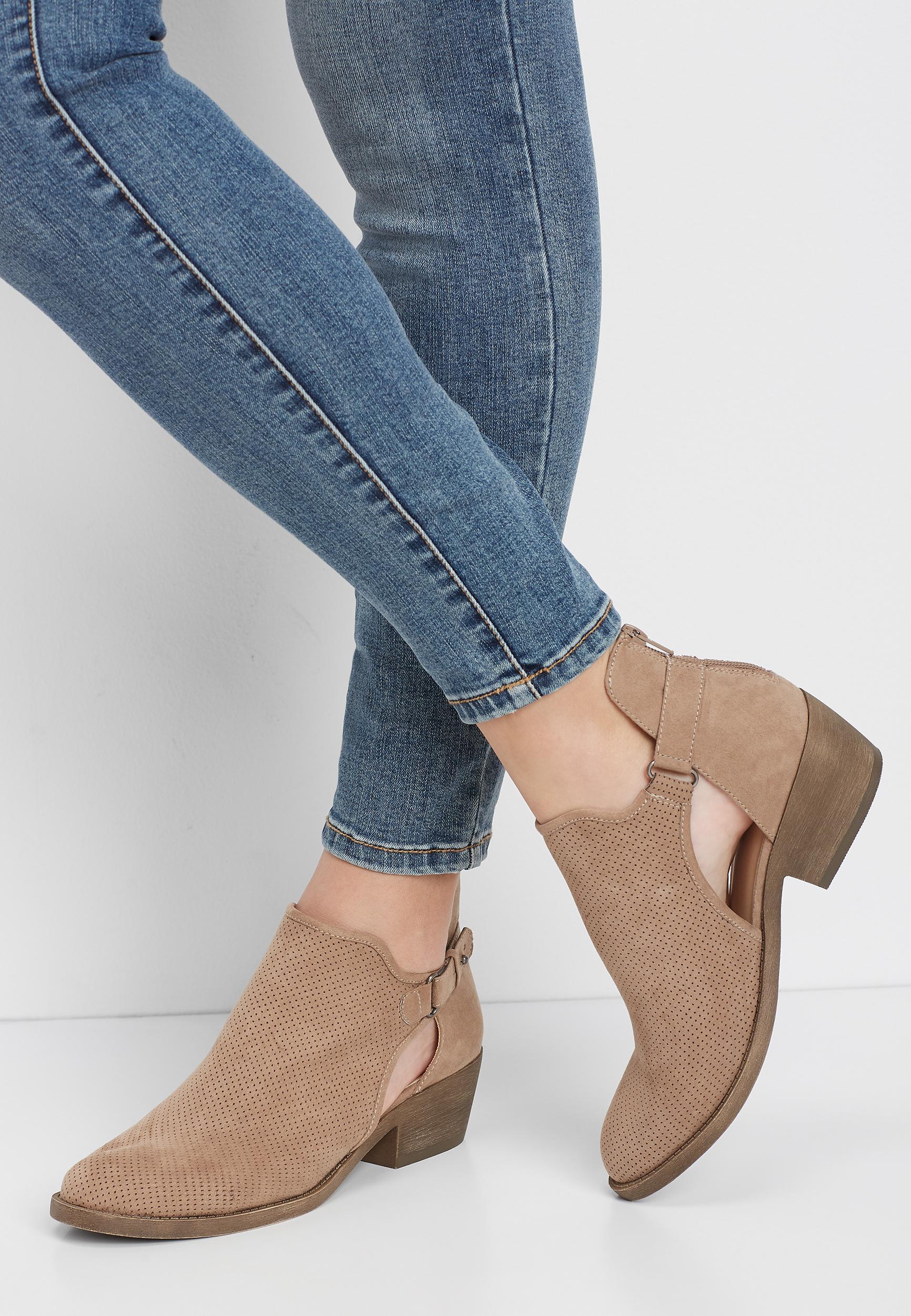Lothian Nora Women/'s Side Zip Ankle Boots US 9 Black//White Dalmatian Print