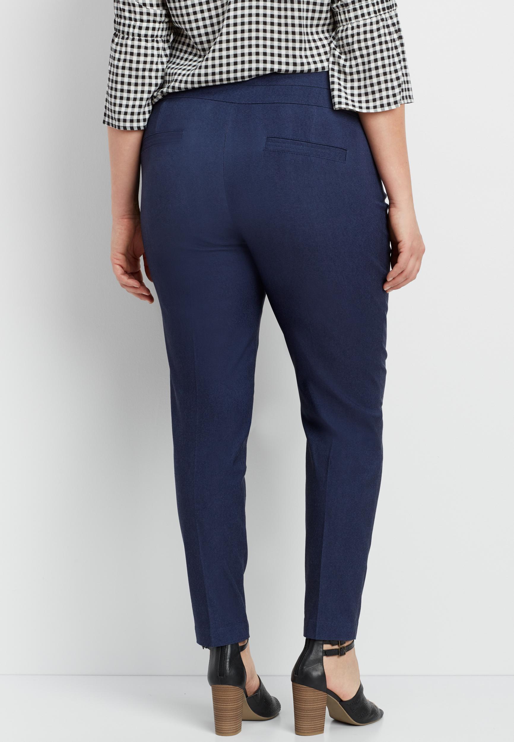 d4d8d6004ed plus size navy bengaline skinny pant