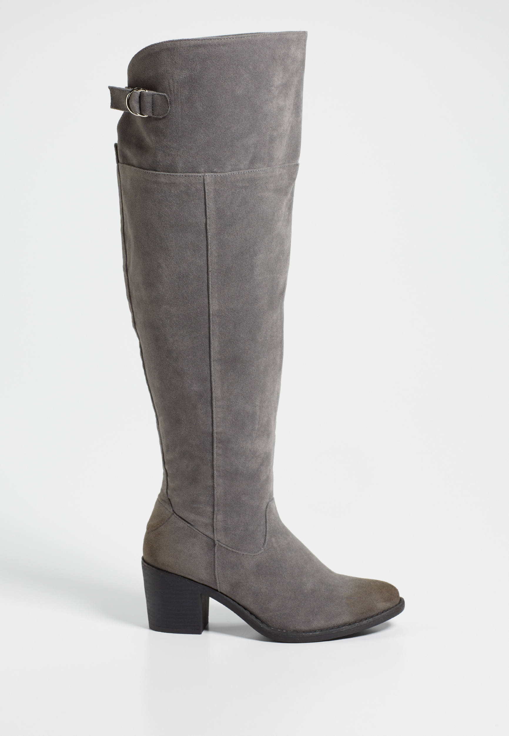 3f25cd1cfb Sabrina wide calf faux suede over the knee boot in gray | maurices