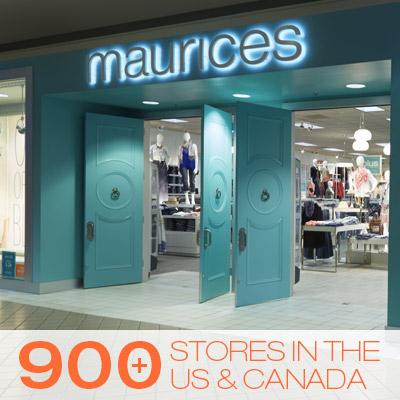 maurices 900+ Stores in the US and Canada.