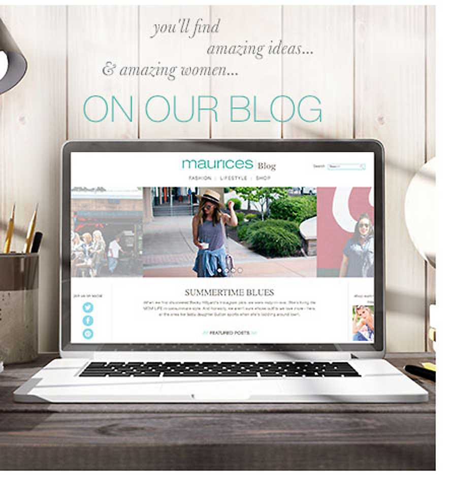 You'll find amazing ideas & amazing women on our blog - read recent posts