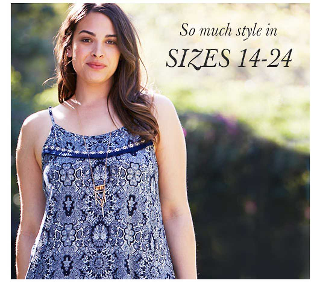 So much style in sizes 14-24 - shop plus