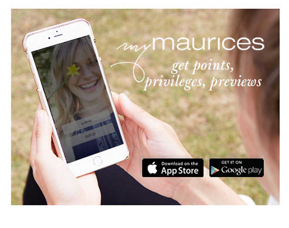 mymaurices - get points, privileges, previews