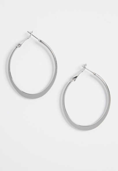 oblong shaped hoop earrings