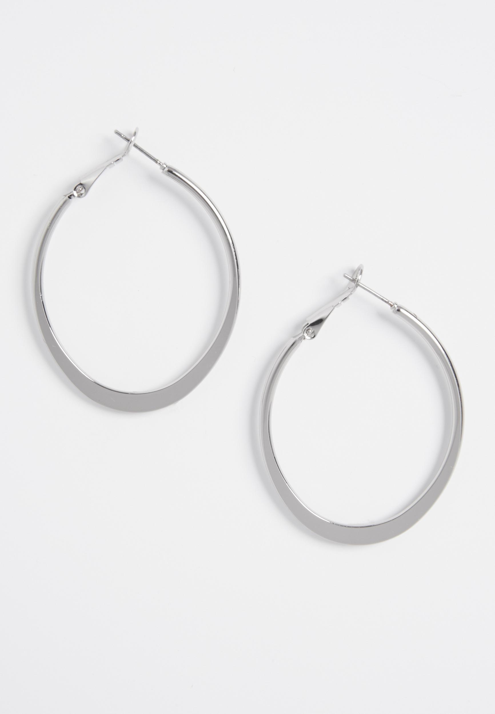Maurices Oblong Shaped Hoop Earrings 5oO8tl6