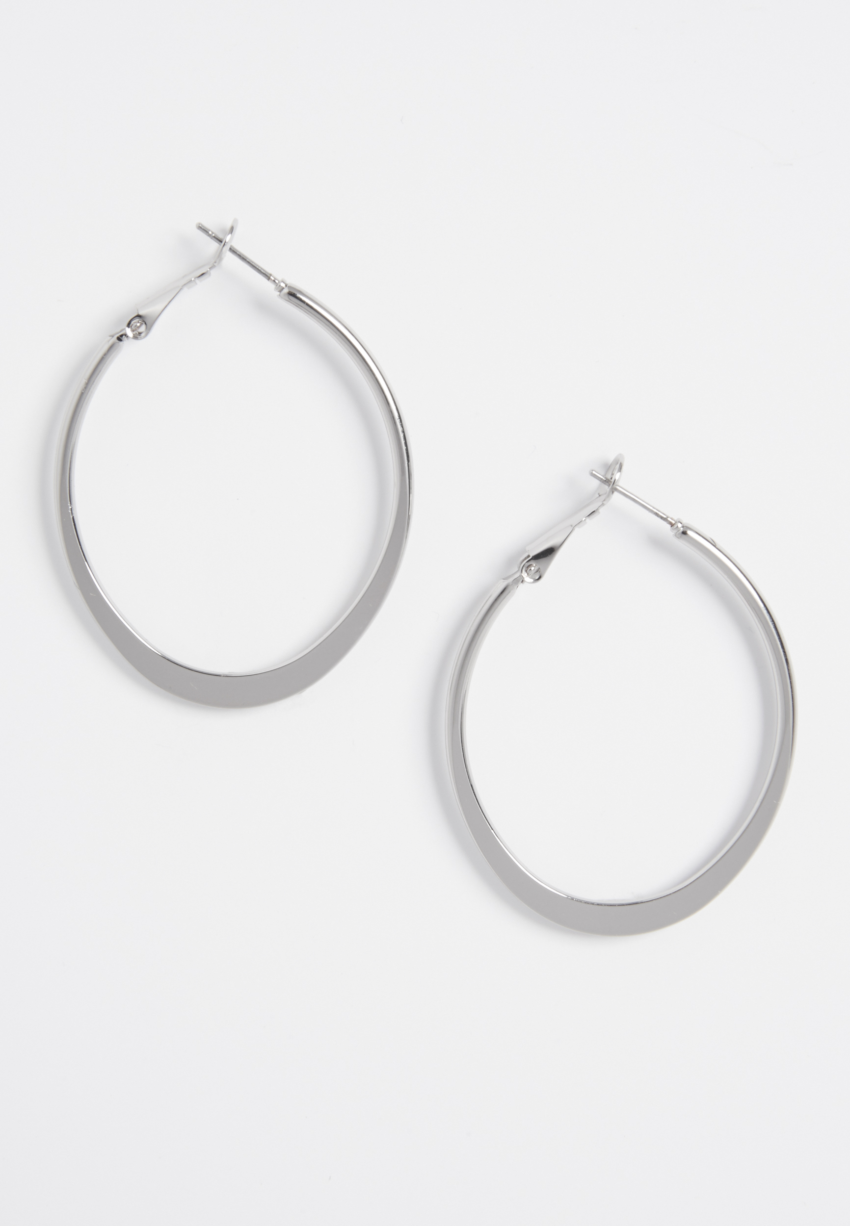 Maurices Oblong Shaped Hoop Earrings