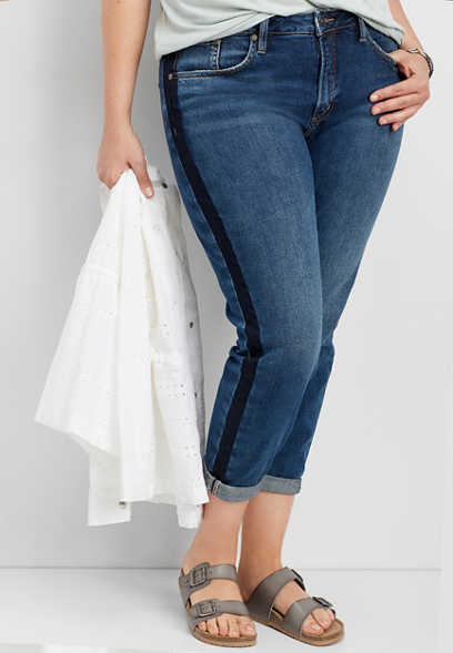 plus size Silver Jeans Co.® vintage side stripe jean
