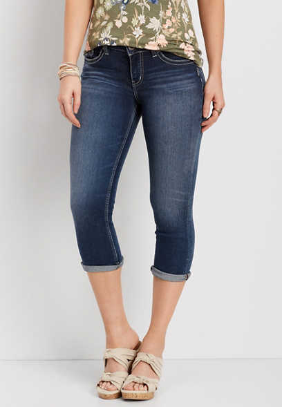 Silver Jeans Co.® Suki dark wash capri
