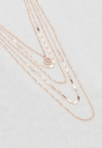 rose gold drape necklace