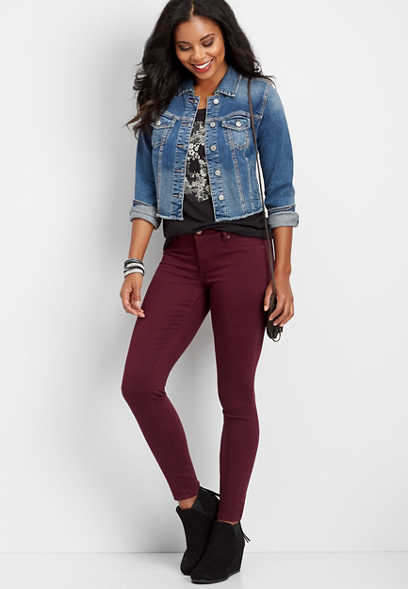 DenimFlex™ wine color jegging
