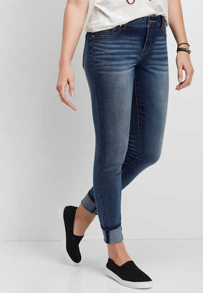 DenimFlex™ medium wash cuffed jegging