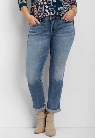 plus size Silver Jeans Co.® Sam medium wash boyfriend jean
