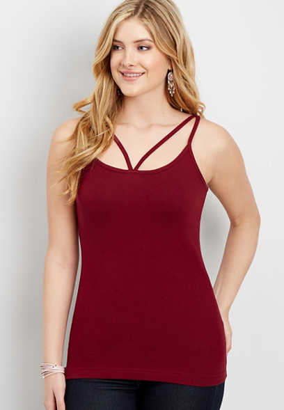 strappy neck cami