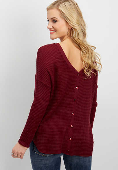 textured two-way pullover cardigan