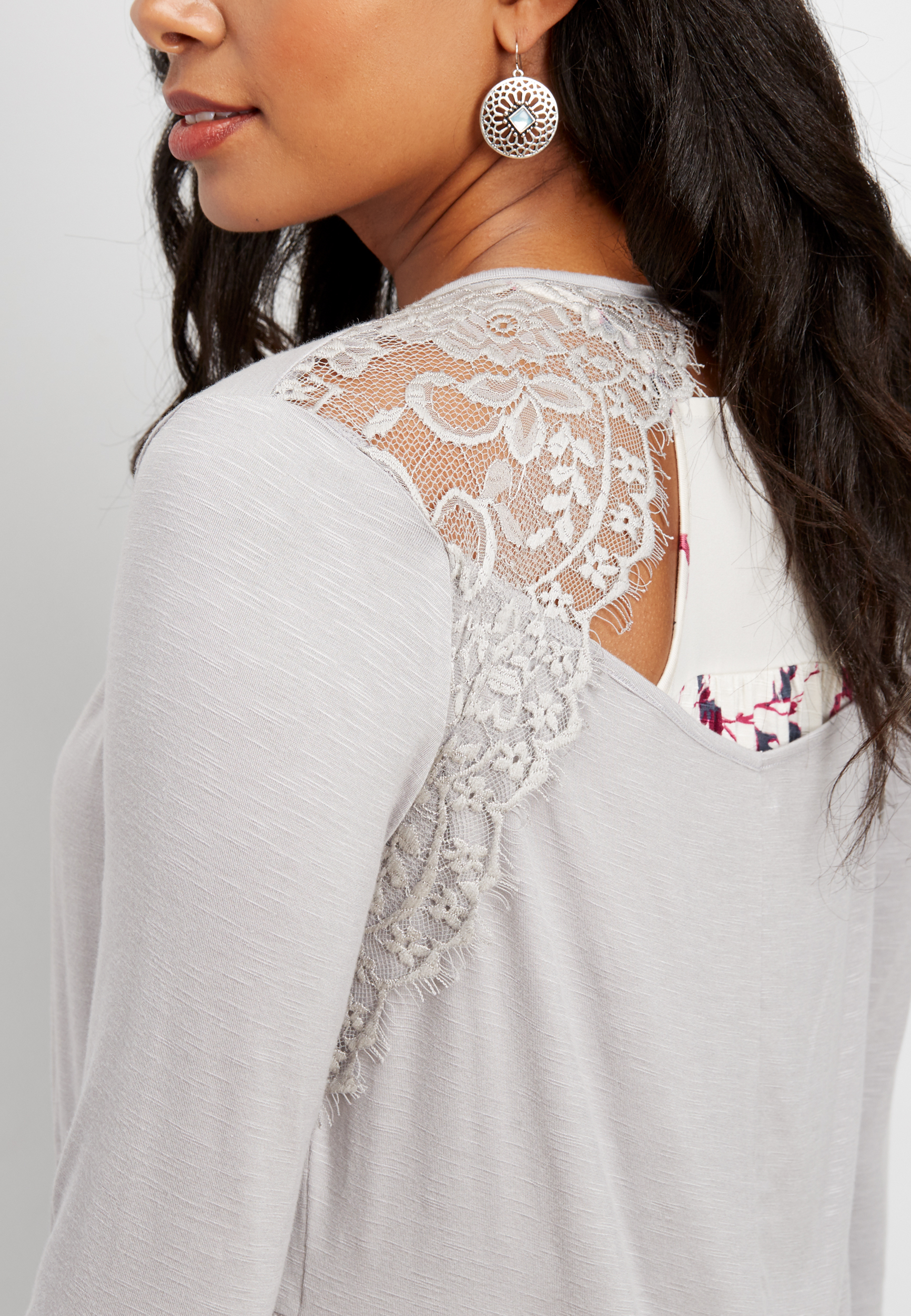 Open Lace Back Cardigan...