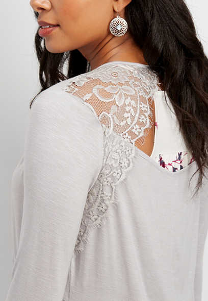 open lace back cardigan