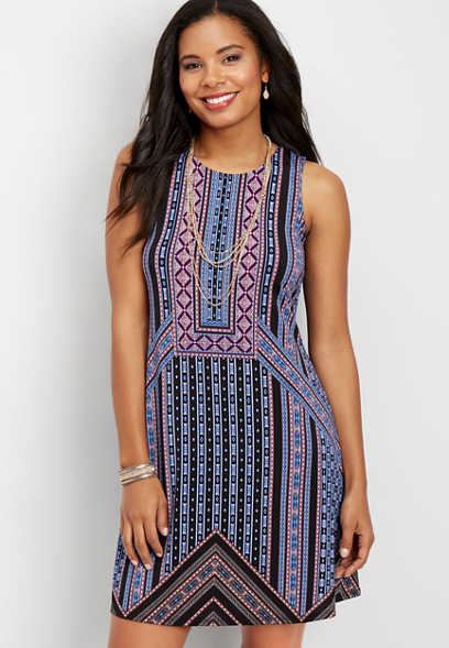 patterned tank dress
