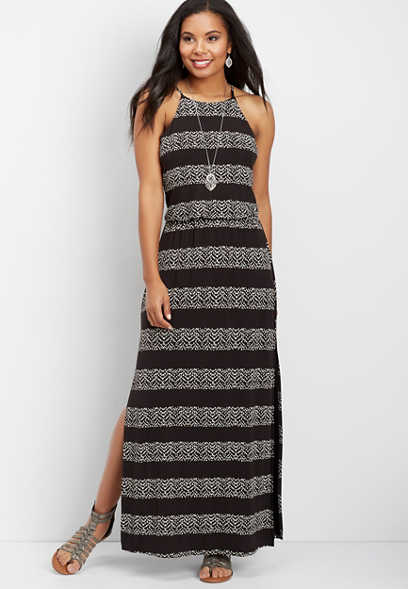 24/7 chevron maxi dress