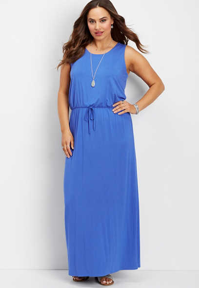 plus size 24/7 solid maxi dress