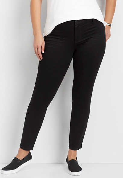 plus size DenimFlex™ black jegging
