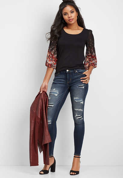 DenimFlex™ destructed super skinny jean