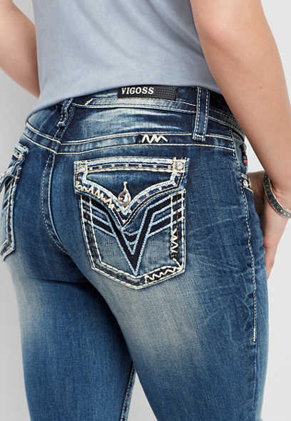 Vigoss ® blue sequin boot cut jean