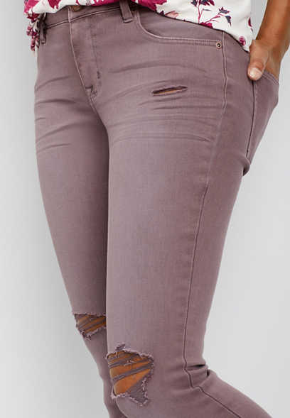 DenimFlex™ sarsaparilla twill color jegging