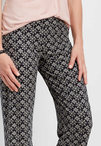 ultra soft floral bootcut pant