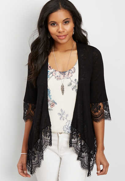 Find Great Cheap Online Embroidered Trim Cardigan Maurices Cheap Sale Real Cheap Sale Sale 3l0Fk