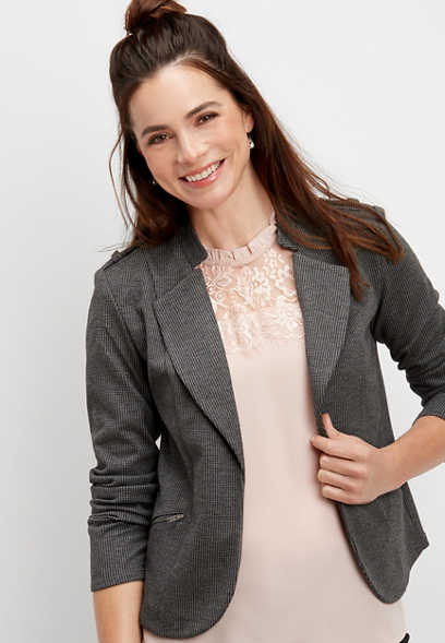long sleeve moto blazer
