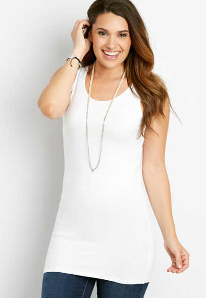 scoop neck tunic tank