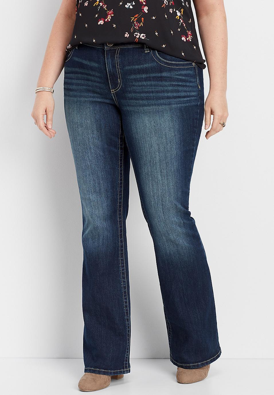 28339252da0 plus size DenimFlex™ dark wash bootcut jean