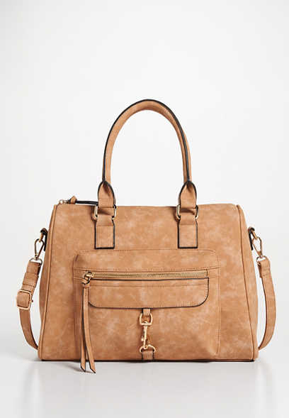 buckle clip front satchel