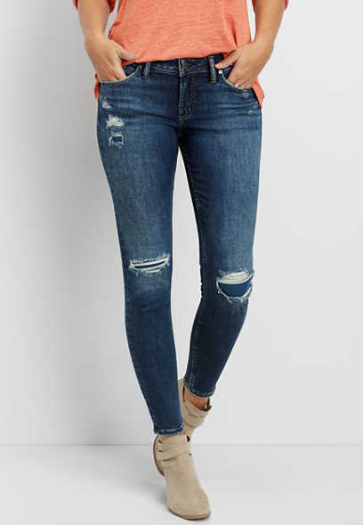 Silver Jeans Co.® Suki backed knee skinny jean