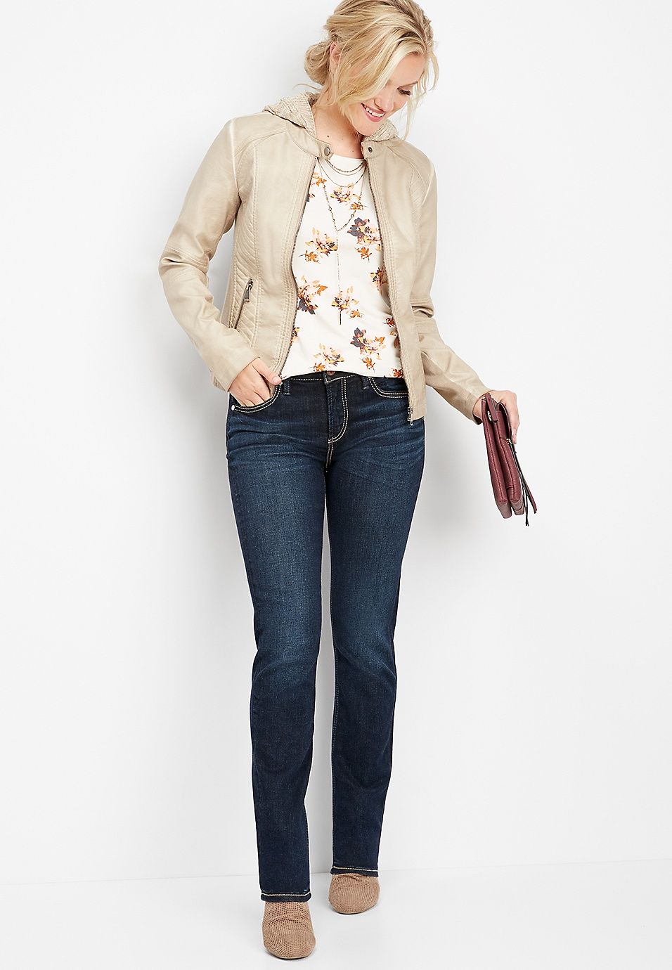 be8f31ba Silver Jeans Co.® Avery high rise straight leg jean   maurices