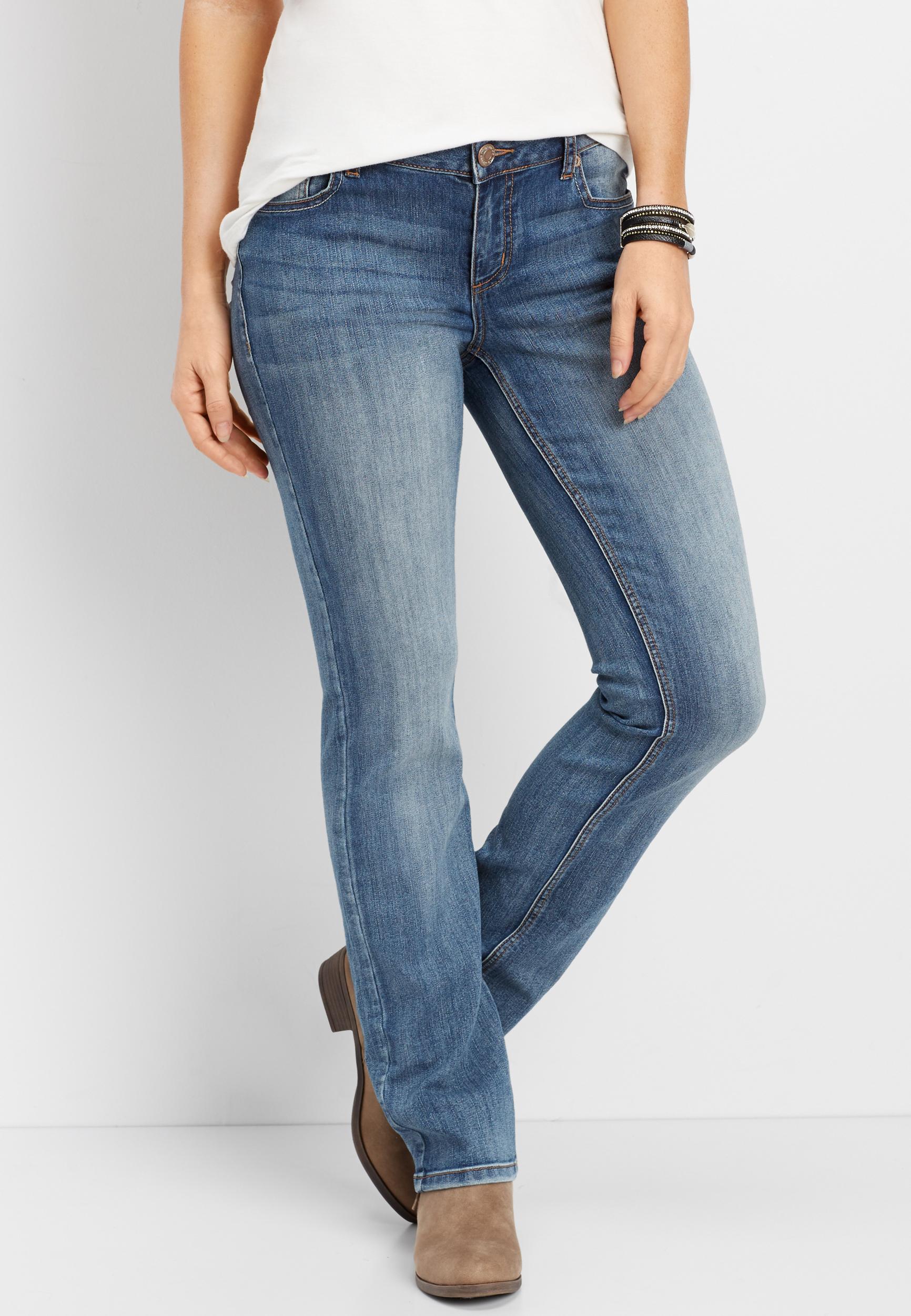 Maurices DenimFlex Medium Wash Straight Jean