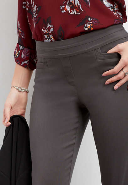 slate stretch pull on bootcut pant