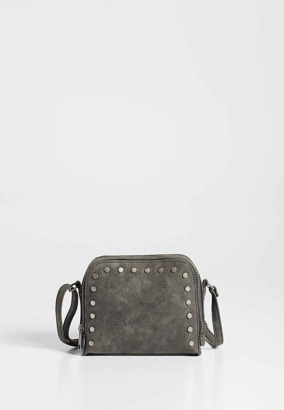 eee4317e8ff8 faux leather stud crossbody bag