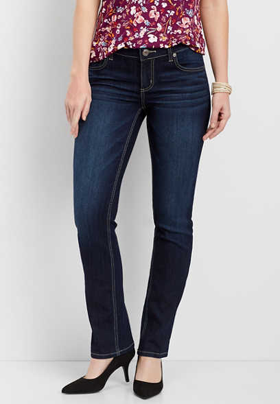 DenimFlex™ dark wash straight leg jean
