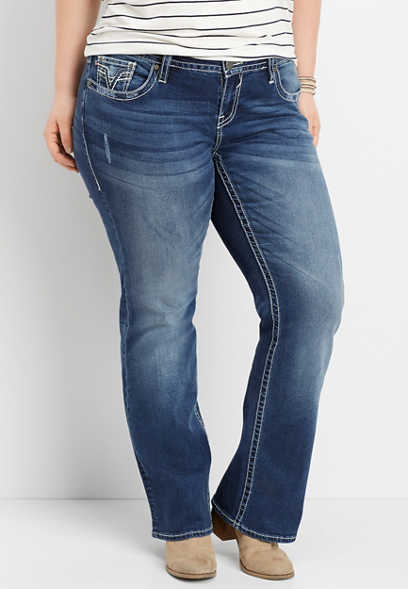 plus size Vigoss ® dark wash slim boot jean