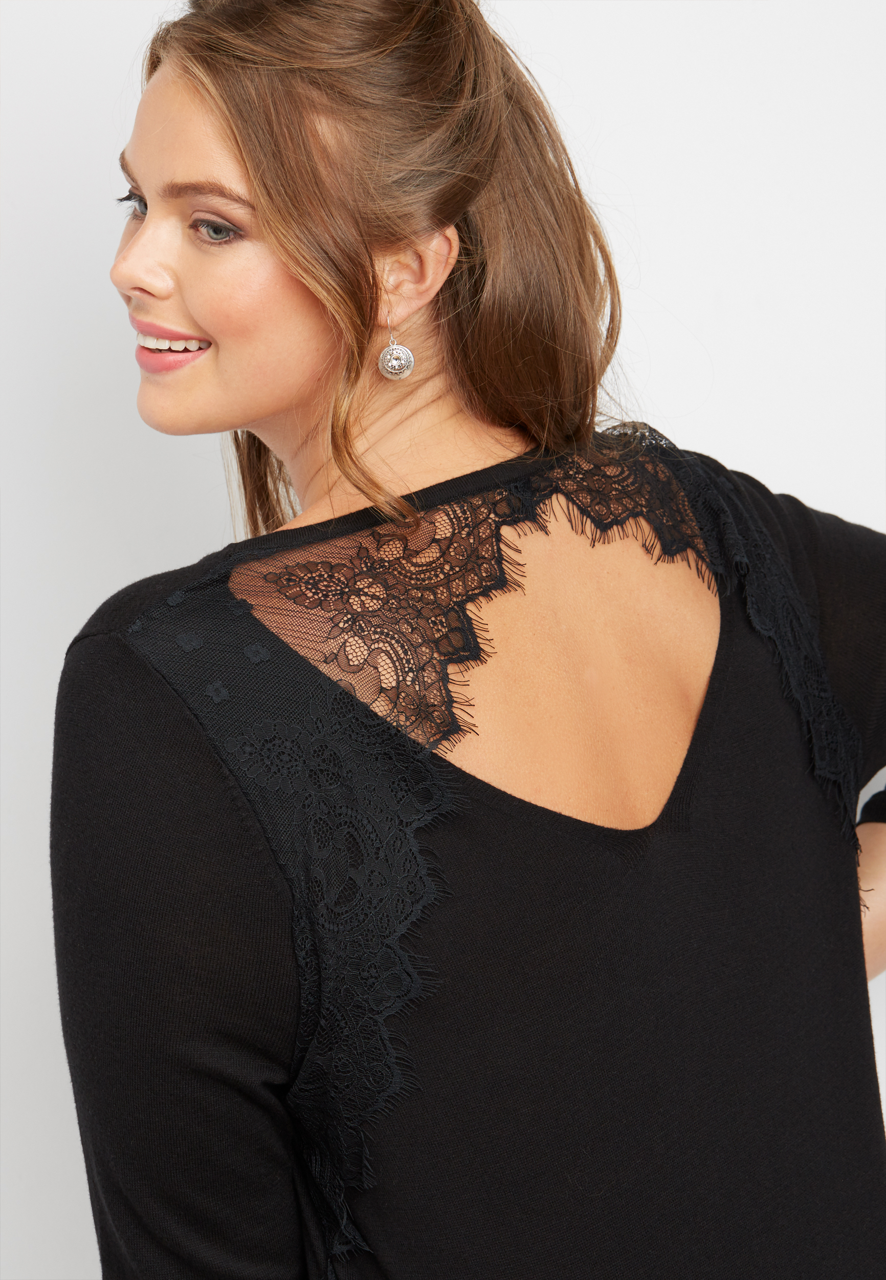 Plus Size - Lace Back...