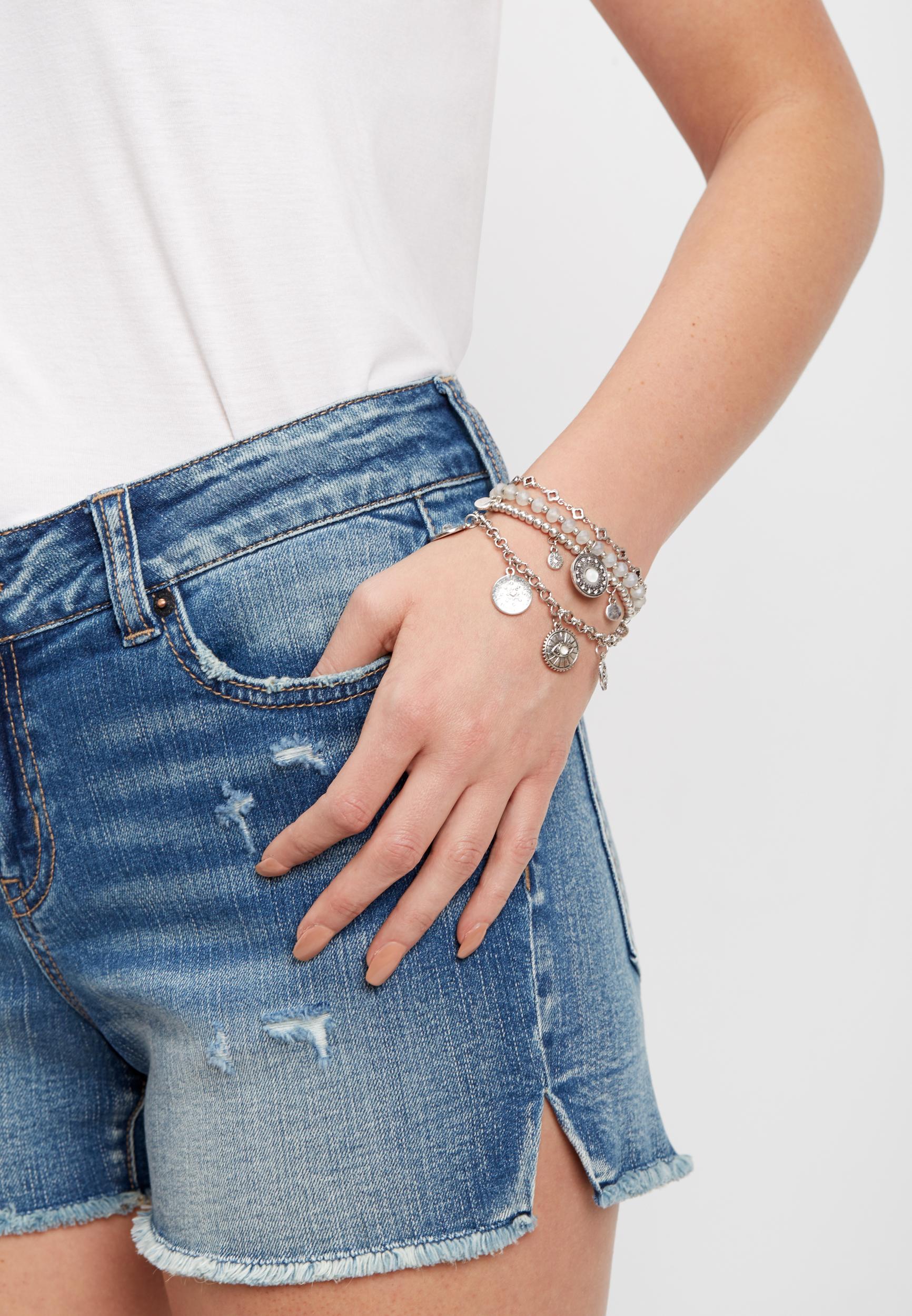 Silver Jeans Co Four Piece Silver Bracelet Set