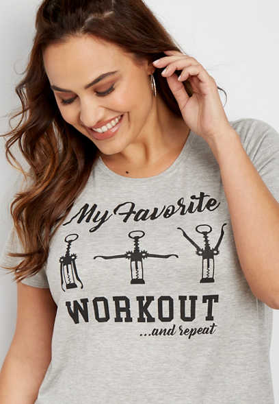 plus size favorite workout graphic tee