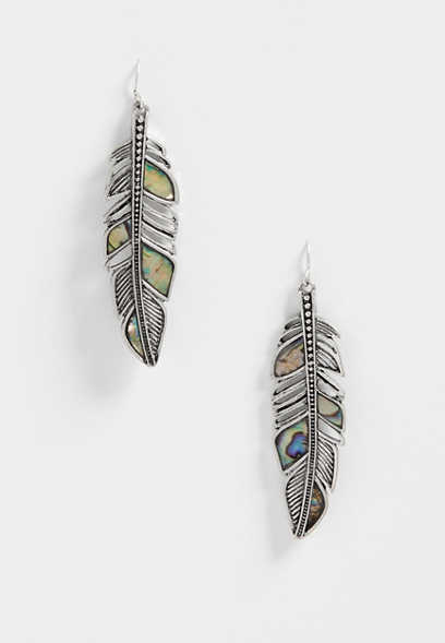 Silver Jeans Co.® feather earrings