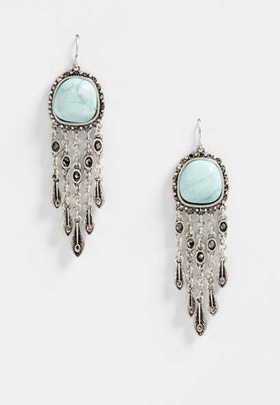 Silver Jeans Co Circle Drop Gypsy Earrings cSATXFk2ub