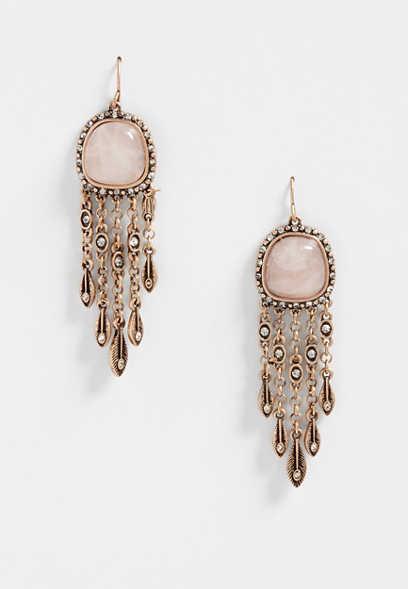 Silver Jeans Co Oval Rhinestone Earrings kdGgS